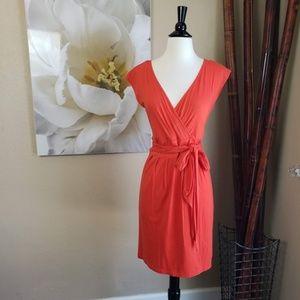 Ann Taylor Loft ~ Orange Tie Dress ~ Size M